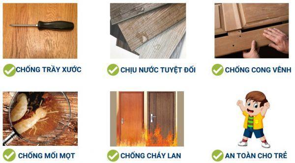 Ưu điểm của cửa gỗ nhựa