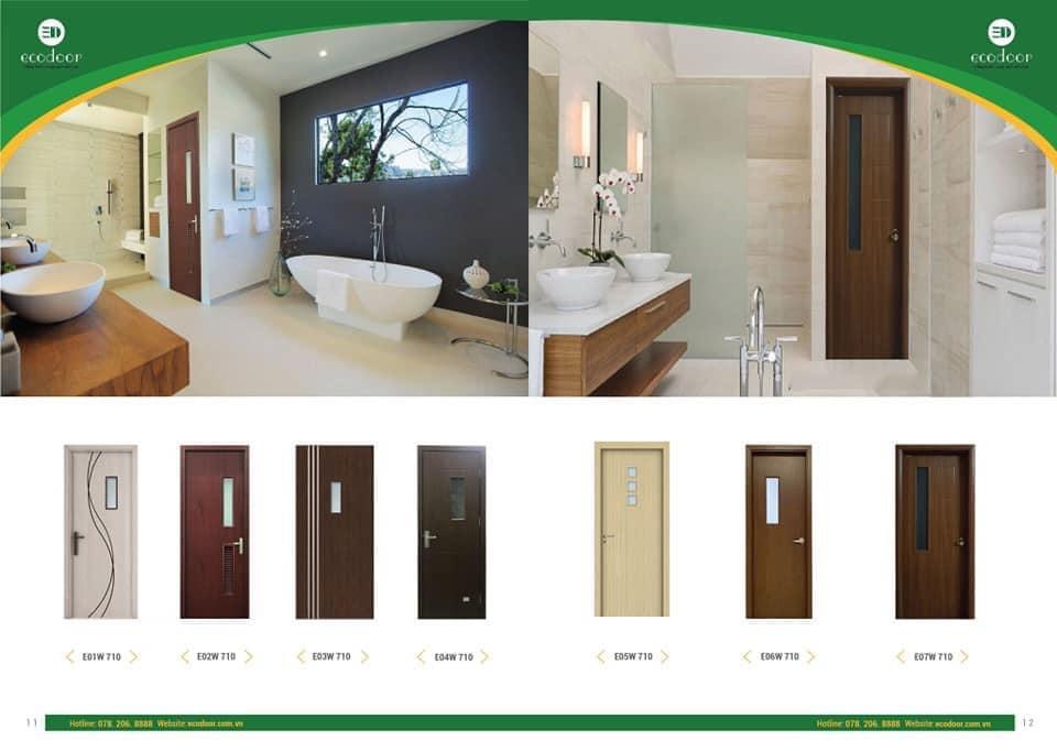Một số mẫu cửa gỗ nhựa compoiste cho phòng vệ sinh