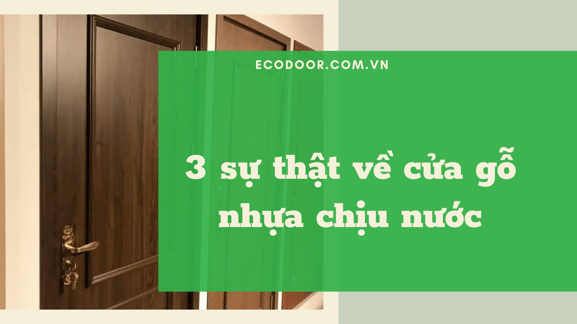 Cửa gỗ nhựa chịu nước Ecodoor